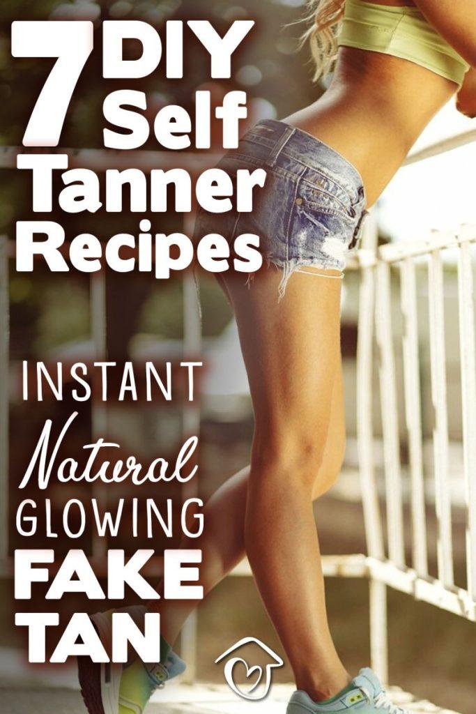 7 DIY Self Tanner Recipes: Instant Natural Glowing Fake Tan