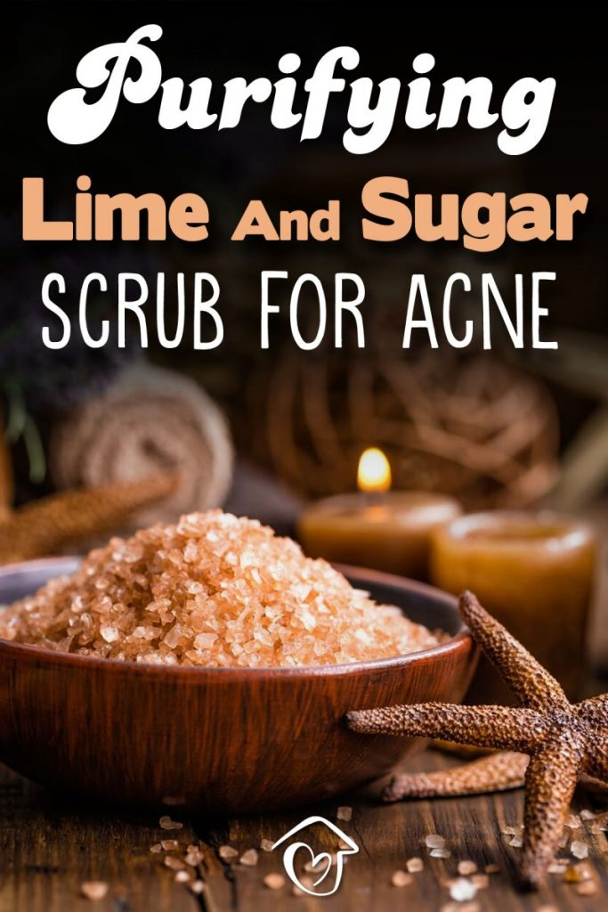 Purifying Lime And Sugar Scrub For Acne