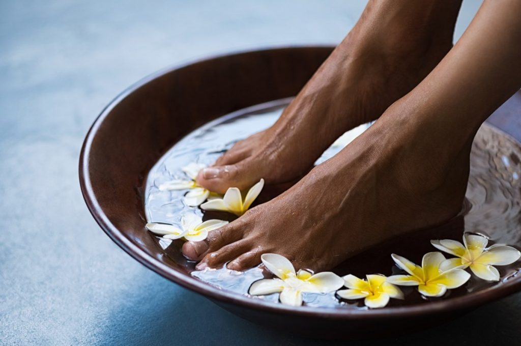 How To Have The Best At Home Spa Day: 25 Genius Ideas; Pedicure at luxury spa