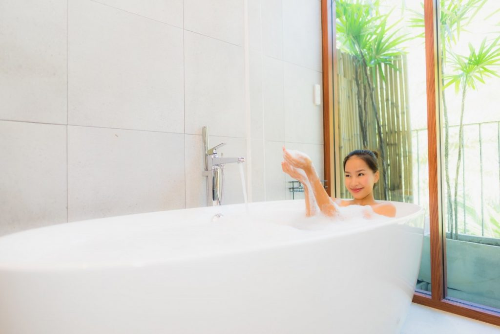 15 Mind Blowing Home Spa Ideas For Complete Pampering; Portrait beautiful young asian woman in the bathtub for take a b