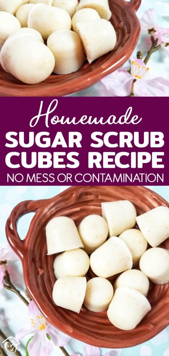 Homemade Sugar Scrub Cubes Recipe: No Mess Or Contamination