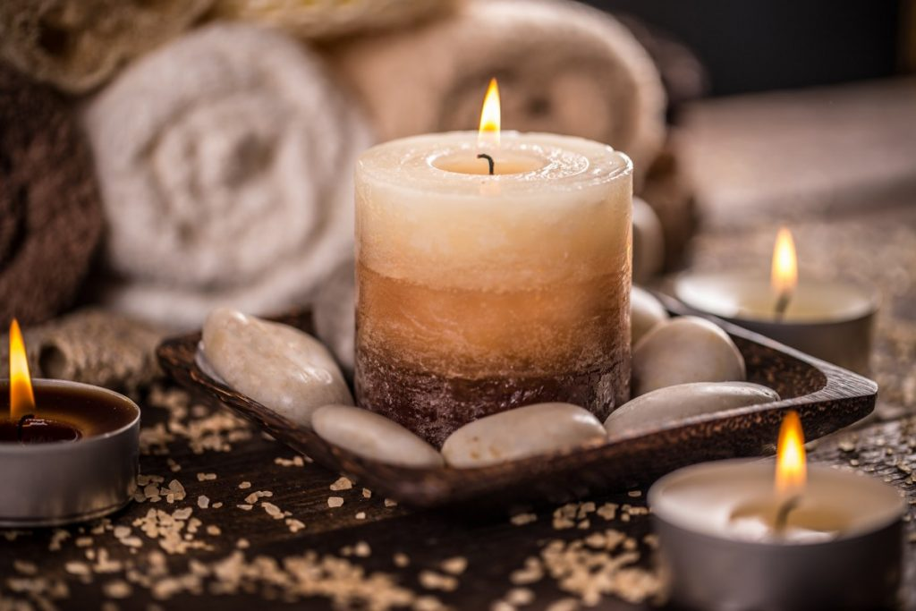 15 Mind Blowing Home Spa Ideas For Complete Pampering; Burning candles