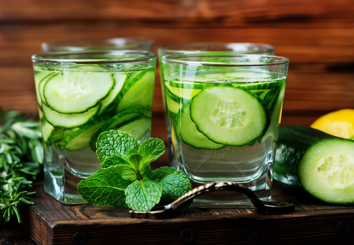 21 Invigorating Spa Water Recipes For Instant Energy; cucumber drink