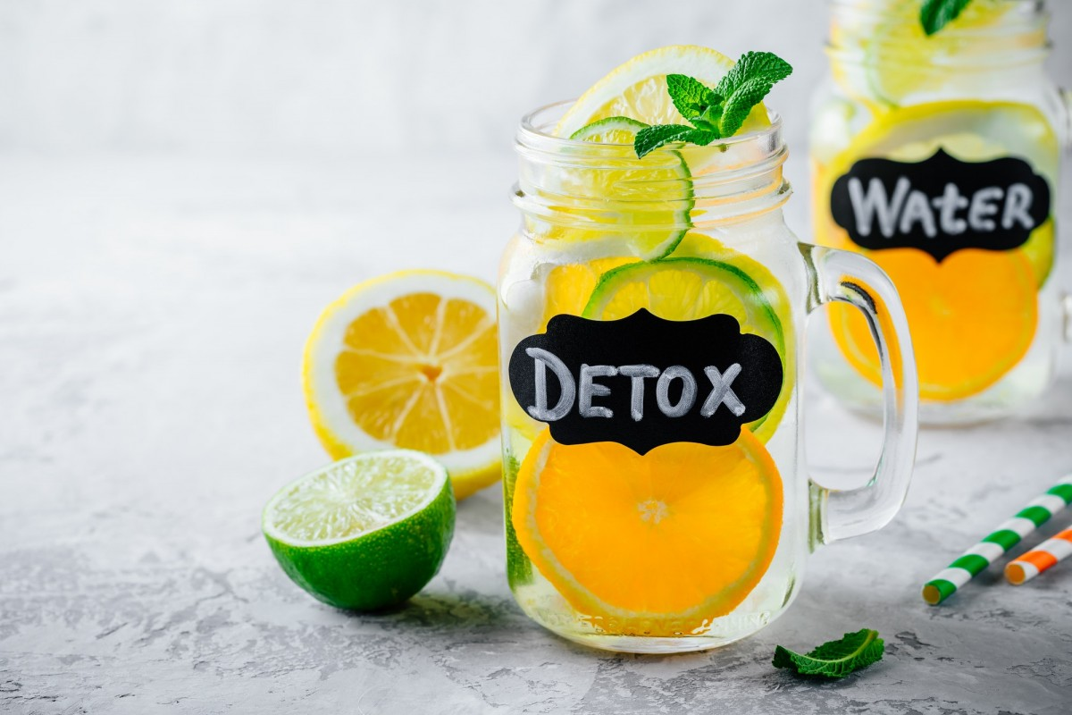 21 Invigorating Spa Water Recipes For Instant Energy; Infused detox water lemonade with orange, lemon and lime.