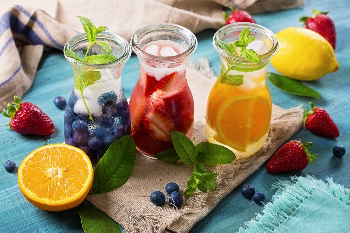 This DIY Spa Night Routine Will Give You A Youthful Glow; Summer fruit drinks