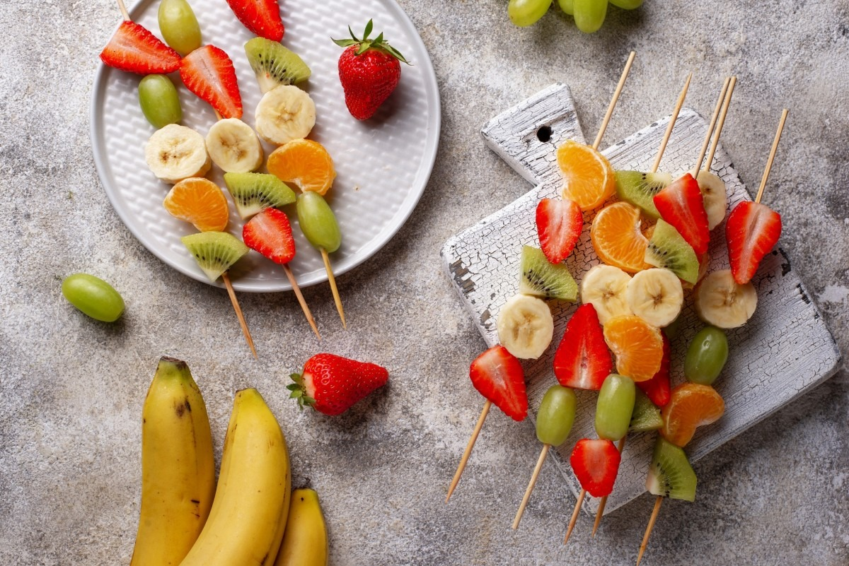 This DIY Spa Night Routine Will Give You A Youthful Glow; Fruit skewers, healthy summer snack