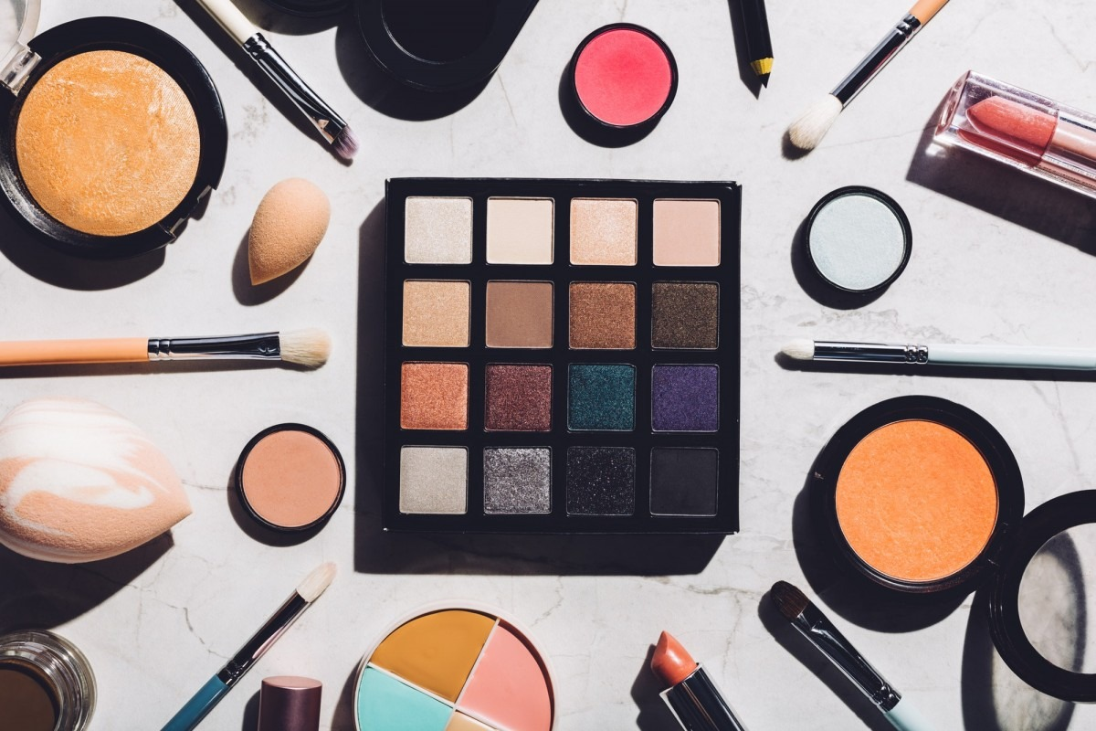 25 Toxic Skincare Ingredients To Avoid In Your Own Cosmetics; Professional makeup tools laying together